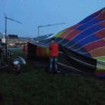 Inflating the balloon with blowers and fans