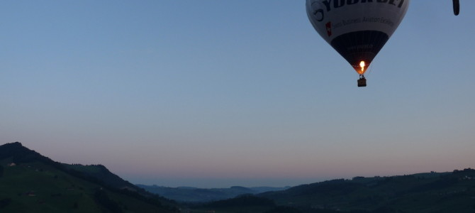 Montgolfier moments, up in the air over Appenzell