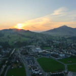 Floating over Appenzell as the sun slowly rises