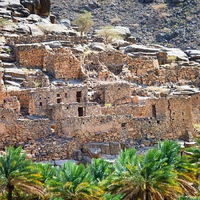 The 800-year-old town of Al Hamra near Nizwa, #Oman. #travel #travelpics