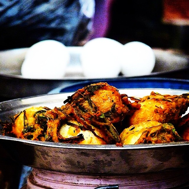 Boiled Egg Fritters at Imphal Ima Market. Delicious! #food #Manipur #india #streetfood