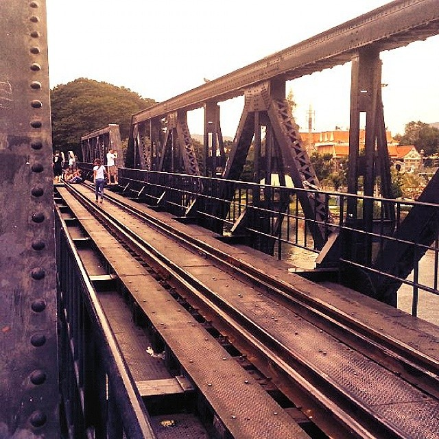 The original Bridge on the River Kwai in #Kanchanaburi, #Thailand.