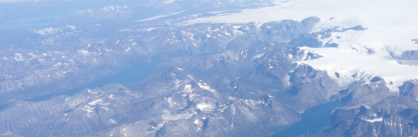 Greenland from the air is Brownland