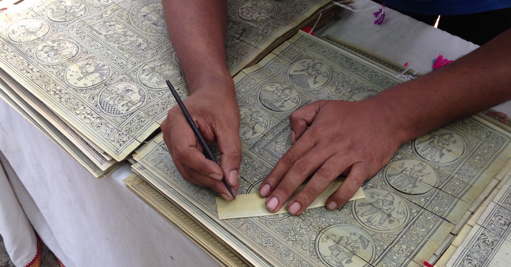 The making of a Pattachitra, the traditional art of Raghurajpur in Odisha