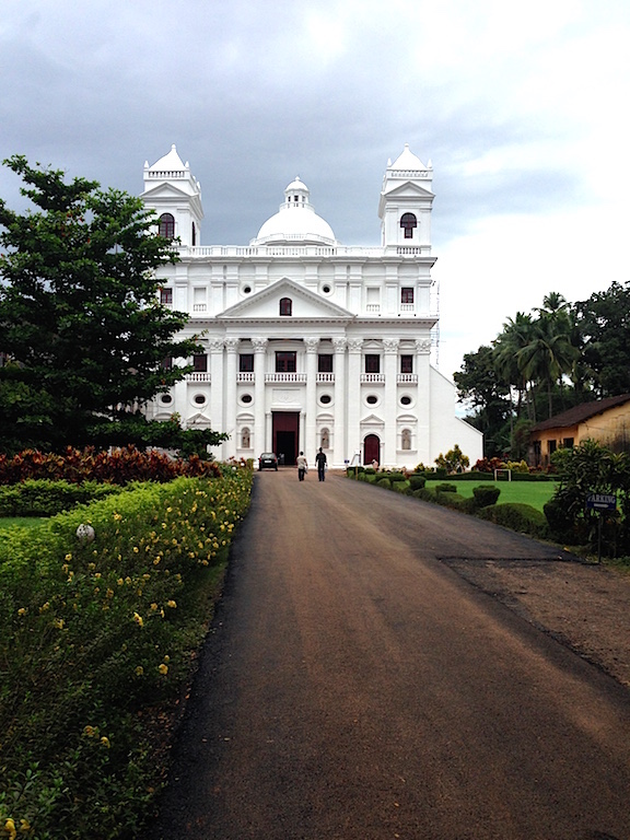 The beautiful Church of St Cajetan in Old Goa was built in 1661.