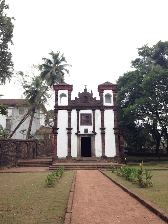Built in 1510, the Chapel of St Catherine was the first Roman Catholic church to be constructed in Goa at the site of Afonso de Albuquerque's victory over the forces of Ismail Adil Shah. Originally a mud-and-thatch structure, it was rebuilt in 1550.