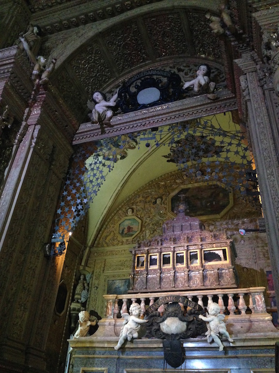 The silver casket treasuring the sacred relics of St Francis Xavier, which was once referred as the incorruptible body.