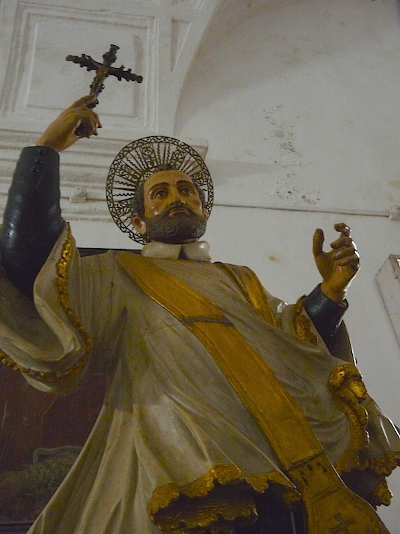 A statue of St Francis Xavier at Bom Jesus Basilica