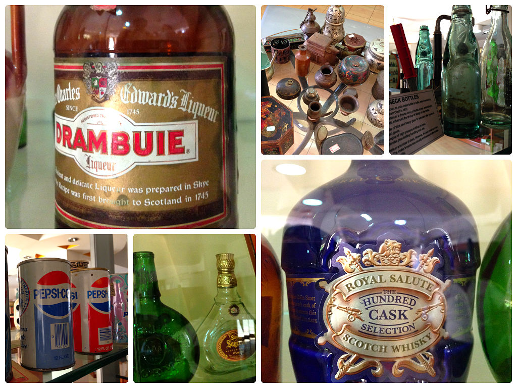 A treasure of old bottles. Empty, sadly