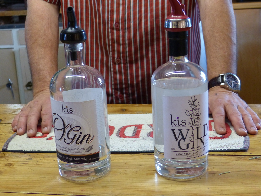 Wild Gin (with Myoporum) and O Gin (with Olearia)