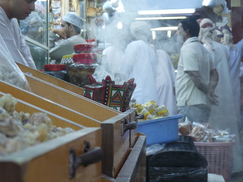 At the Frankincense Souq in Salalah