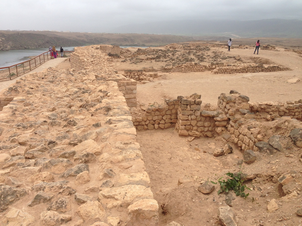 The ruins of the ancient Frankincense Port at Khor Rori