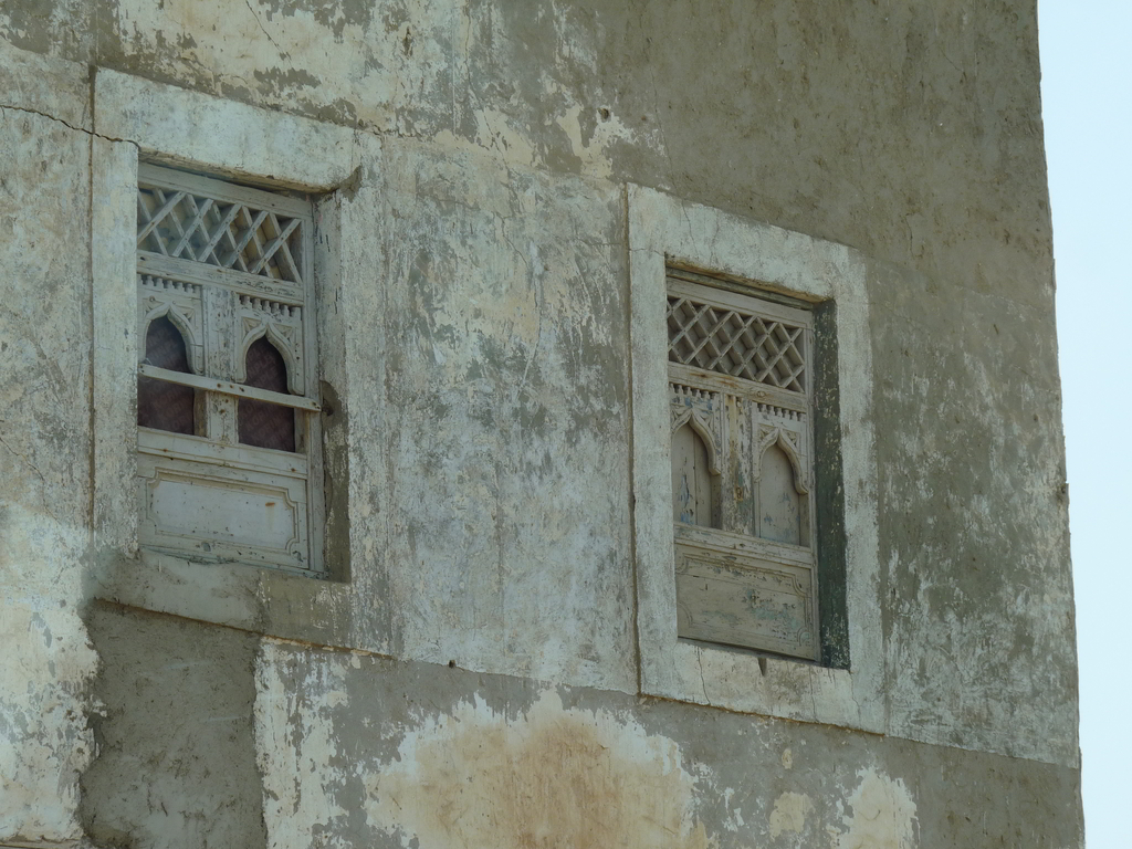 The window of an old house in the town of Mirbat