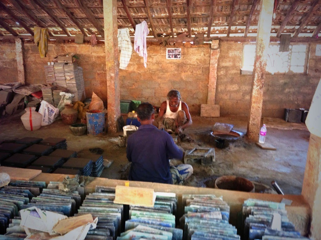 Making world-famous tiles at a village foundry in Athangudi