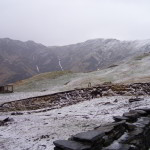 A view of Bedni Bugyal after a hailstorm. Ice crystals lay in the ground for days without melting