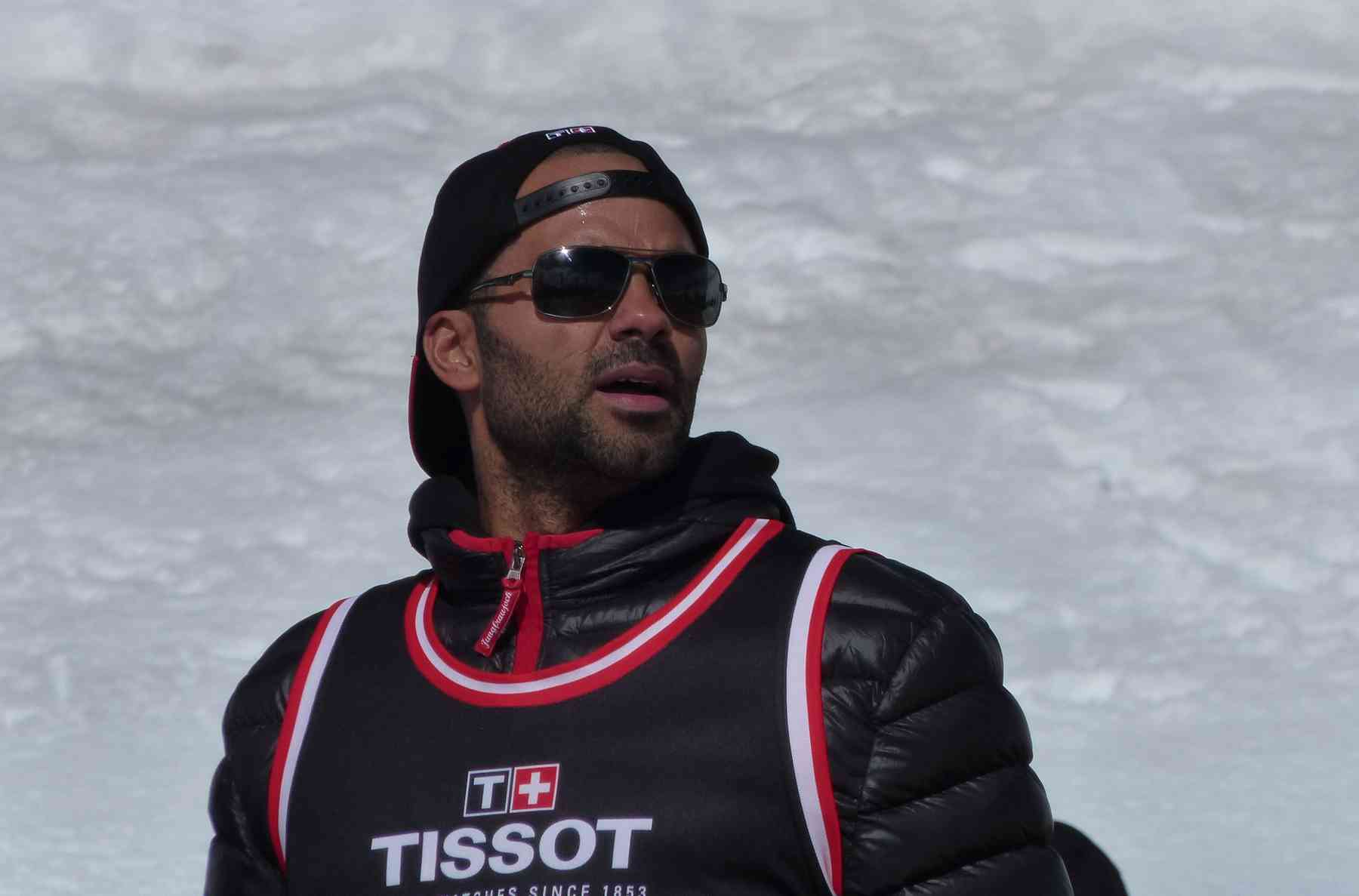 Tissot brand ambassador Tony Parker at Jungfraujoch, the top of Europe
